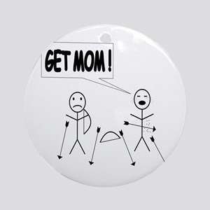 Get Mom! Bow and Arrow Ornament (Round)