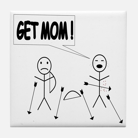 Get Mom! Bow and Arrow Tile Coaster