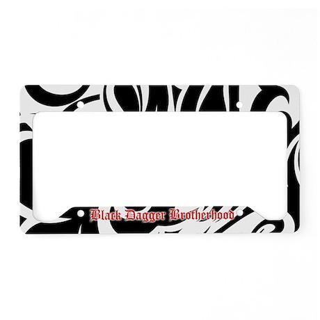 Bdb Black And White License Plate Holder