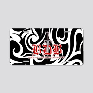 BDB Dagger Black-and-Silver Aluminum License Plate