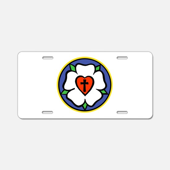 Luther Rose Aluminum License Plate