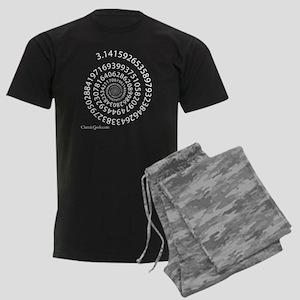 Spiral Pi Men's Dark Pajamas