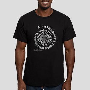 Spiral Pi Men's Fitted T-Shirt (dark)
