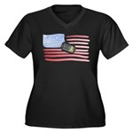 Support Our Troops Women's Plus Size V-Neck Dark T