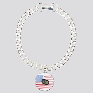 Support Our Troops Charm Bracelet, One Charm