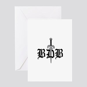 Bdb Dagger Logo Card Greeting Cards