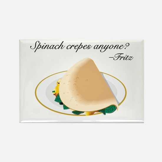 Fritz Spinach Crepes Rectangle Magnet