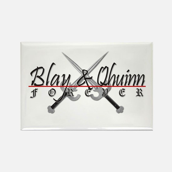 Blay and Qhuinn Forever Rectangle Magnet