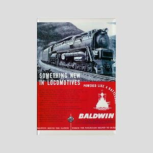 Baldwin S-2 Steam Locomotive Rectangle Magnet