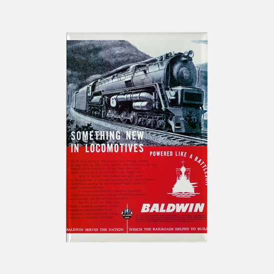 Baldwin S-2 Steam Locomotive Rectangle Magnet
