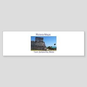 Riviera Maya, Tulum, QR, MX R Sticker (Bumper)