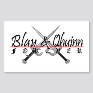 Blay And Qhuinn Forever Rectangle Sticker