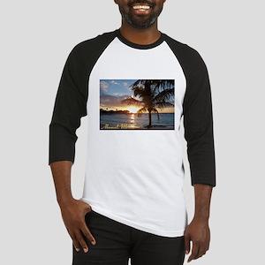 Akumal Sunrise - Palm Tree, Y Baseball Jersey