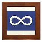 Metis Flag Framed Tile