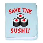 Save The Sushi baby blanket