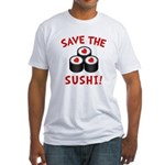 Save The Sushi Fitted T-Shirt