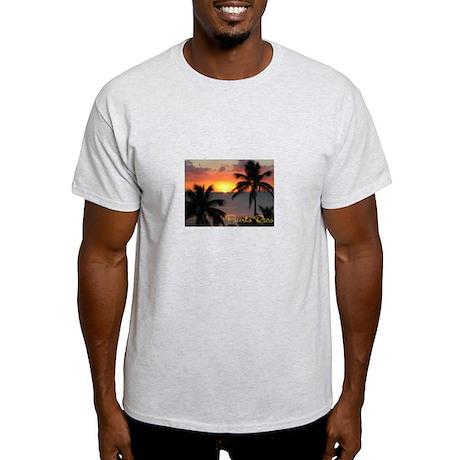 Puerto Rico Sunset, Two Palms Light T-Shirt