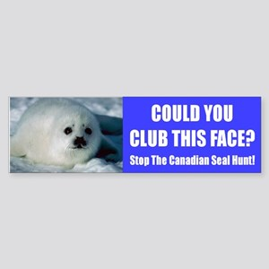 Canadian Seal Hunt Bumper Sticker