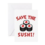 Save The Sushi Greeting Cards (Pk of 20)