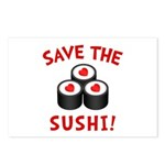 Save The Sushi Postcards (Package of 8)