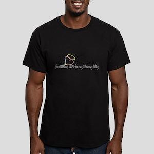 No Regrets2 Men's Fitted T-Shirt (dark)