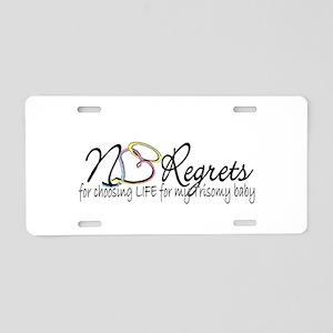 No Regrets2 Aluminum License Plate