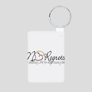No Regrets2 Aluminum Photo Keychain