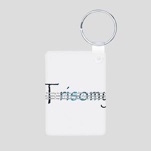 Trisomy Aluminum Photo Keychain