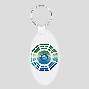 Oceanic Dharma Lost Aluminum Oval Keychain