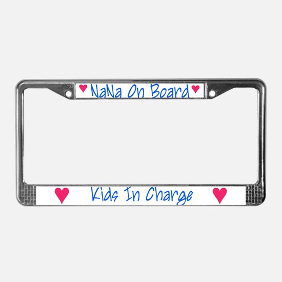 Nana on Board - License Plate Frame