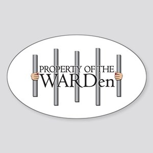 Property Of The Warden Oval Sticker