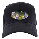 Colorado Blue Columbines Black Cap with Patch