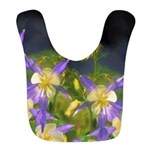 Colorado Blue Columbines Polyester Baby Bib
