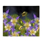 Colorado Blue Columbines Throw Blanket