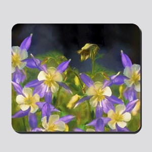 Colorado Blue Columbines Mousepad