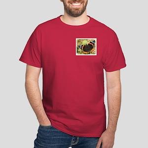 Red Admiral Butterfly 9A70D-15 Dark T-Shirt