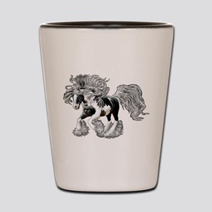 Gypsy Vanner Shot Glass