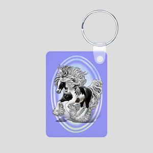 Gypsy Vanner Aluminum Photo Keychain