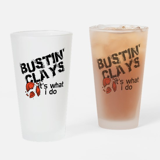 Bustin Clays Drinking Glass