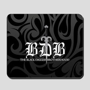 BDB Dagger Logo Black and Gray Mousepad