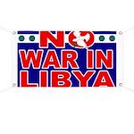 No War in Libya Banner