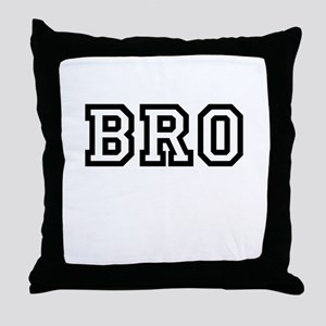 Bro College Letters Throw Pillow