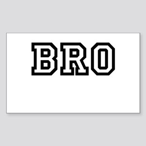 Bro College Letters Sticker (Rectangle)