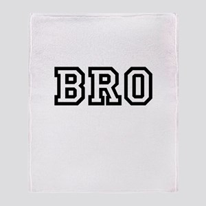 Bro College Letters Throw Blanket