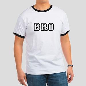 Bro College Letters Ringer T