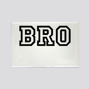 Bro College Letters Rectangle Magnet