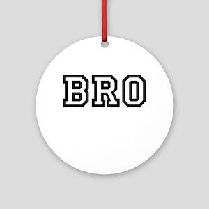 Bro College Letters Ornament (Round)