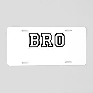 Bro College Letters Aluminum License Plate