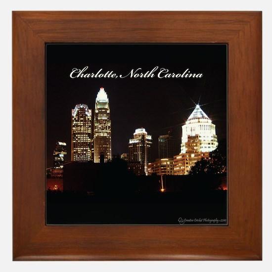 Charlotte, North Carolina Framed Tile