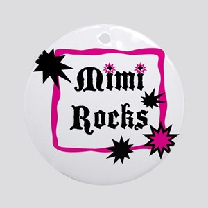 Mimi Rocks Ornament (Round)